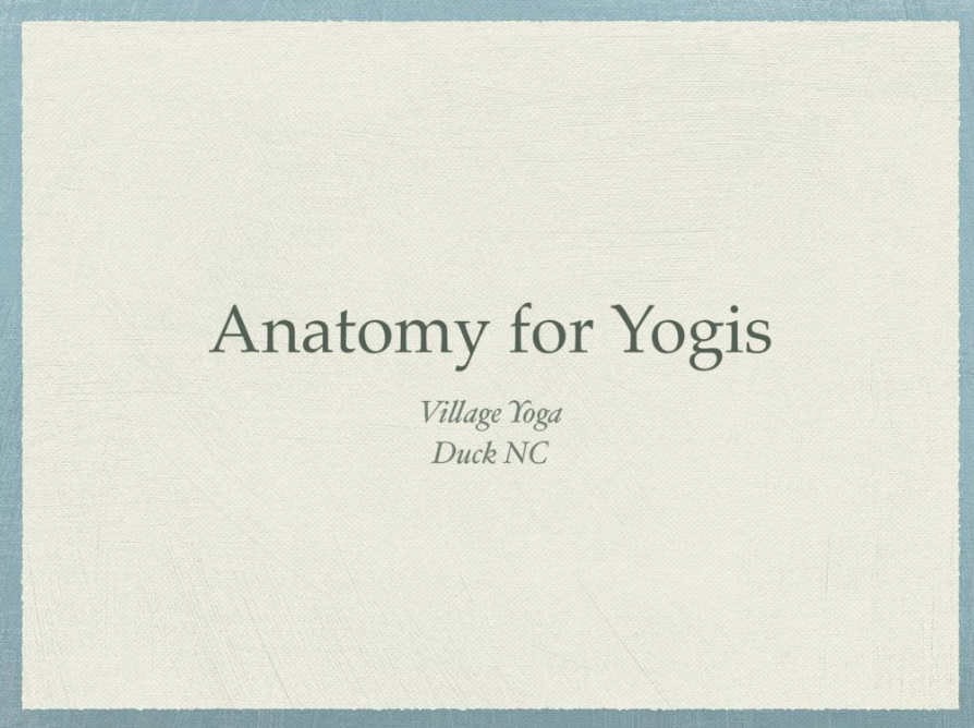 Anatomy for Yogis
