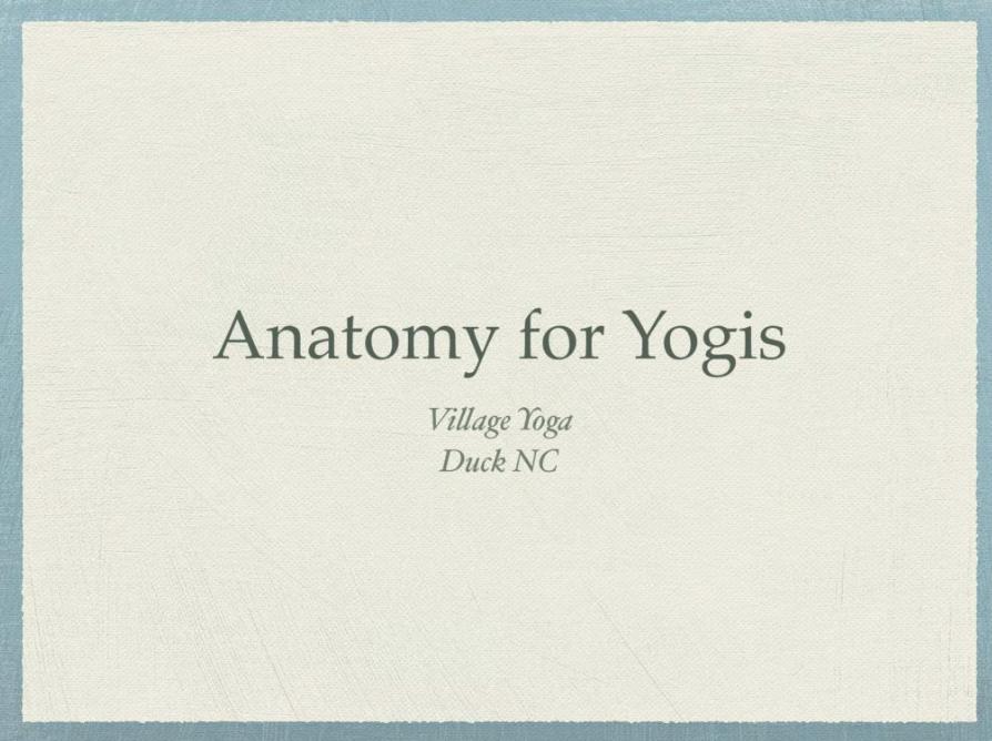 Anatomy for Yogis